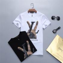 2色可選 今旬のシルエットバランス ルイ ヴィトン LOUIS VUITTON Tシャツ/ティーシャツ 2019年最新ファッション.