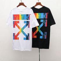2色可選 おしゃれな夏ファッション2019 Off-White オフホワイト Tシャツ/半袖 大人らしく仕上げ