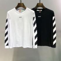 2色可選 長袖Tシャツ Off-White オフホワイト 2019春夏トレンドアイテム まずは定番!人気アイテム